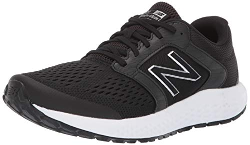 New Balance Men's 520v5 Cushioning Running Shoe, Black/White, 12 D US