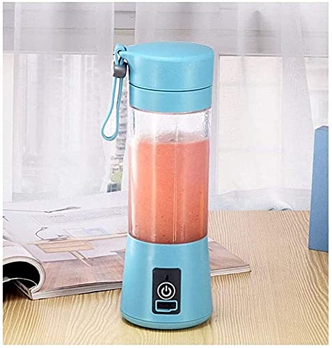 YYHAD Slow Juicer, 4 Leaf Cutter Head Electric Mini Cyclone Household Portable Fruit Juice Cup,Blue (Color : Blue),Juicer Machines Vegetable and Fruit (Color : Blue)