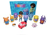 Dreamworks Home Movie Deluxe Party Favors Goody Bag Fillers Set of 12 Figures with Earth Girl Tip, OH, Baby Boov, Floater Car, Pig the Cat and More! by Home Movie