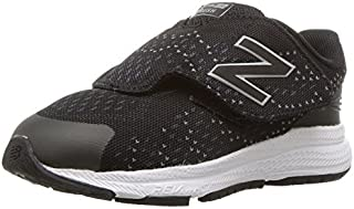 New Balance Boys' Rush V3 Hook and Loop Running Shoe Black/Grey 10 Wide US Infant [並行輸入品]