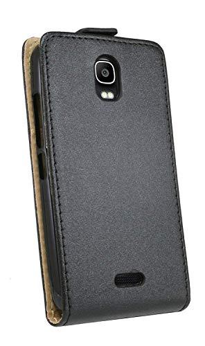 ENERGMiX Klapptasche Schutztasche kompatibel mit Huawei Y360 in Schwarz Tasche Hülle - 5
