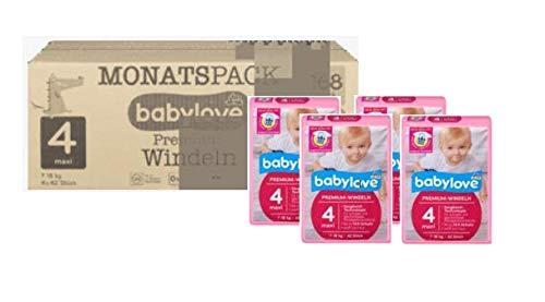 babylove Premium Windeln Größe 4 maxi (7-18Kg) 4x42 Stück - 168 Stück