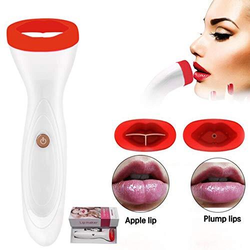 JJIIEE Silikon-Lip Plumper, elektrischer Fuller Lippengerät, USB-Lade 3 Stärke Lip Enhancer-Tool für sexy Lippen Frauen und Mädchen