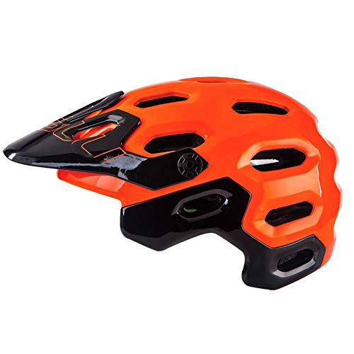 MXYMC New MTB Casco Da Bicicletta Down Hill Ciclismo Cappellino Di Sicurezza Sportiva Ultraleggero Donna Uomo OFF-ROAD Casco Da Mountain Bike Taglia M/L (Orange,L(58-62CM))