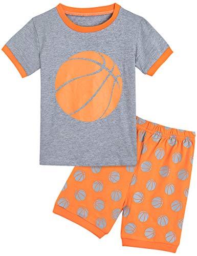MOMBEBE COSLAND Basketball Kurz Schlafanzug Jungen (3 Jahre, Orange)