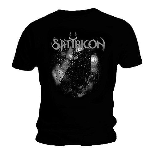 Offizielles T Shirt Satyricon schwarz Death Metal Crow auf einem Grabstein alle Größen Gr. X-Large, Schwarz - Schwarz