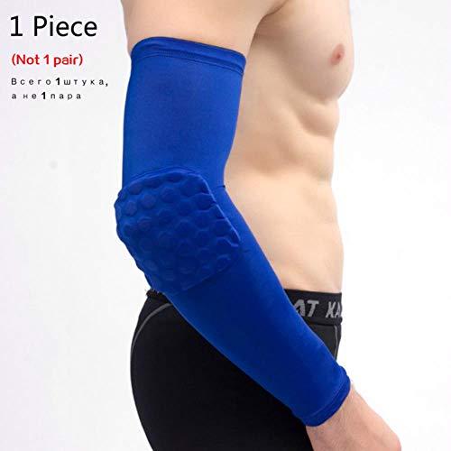1 x Knieschoner/Basketball-Bandage, elastisch, Knieschoner, Patella-Schaumstoff, Unterstützung für Volleyball, Ellenbogen, Größe M, Blau
