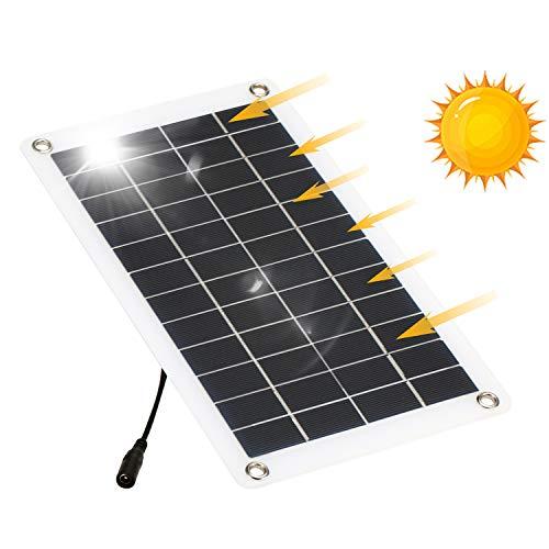 Godyluck- 12V 7,5 W Solarpanel Monokristalline Silizium-Solarzelle mit Auto-Feuerzeug Krokodilklemme DIY Wasserdichtes Camping Tragbares Solarpanel Kompatibel für iPhone Car Boat Marine