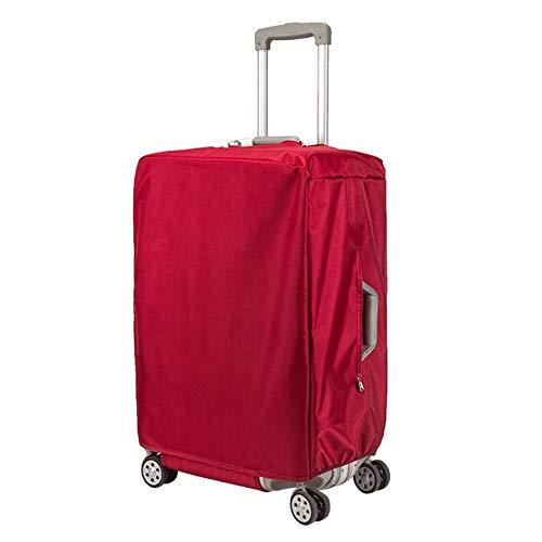 Fishtravel スーツケース カバー 防水 保護 洗える ナイロン シンプルな おしゃれ 旅行 海外 出張 キャリーバッグ カバー キズから保護 便利 (24, 赤)