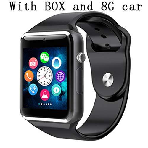JingJingQi smart horloge Polshorloge A1 Bluetooth Smart Horloge Mannen Sport Stappenteller Met SIM-camera Smartwatch Voor Android Smartphone Rusland T15 goed thanY1-in Smart Horloges van Consumer Electronics