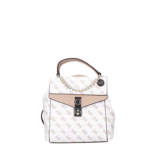 Guess Borsa zaino Lorenna convertible backpack in ecopelle multilogo bianco donna BS20GU90