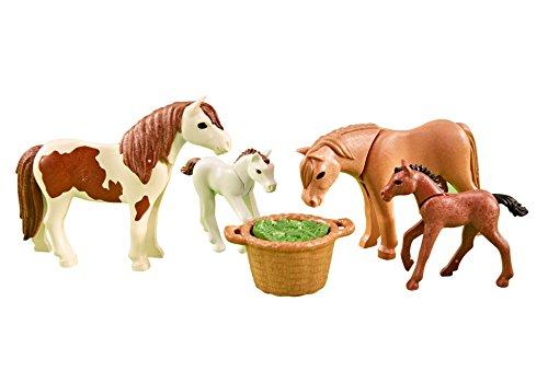PLAYMOBIL 6534 - Ponys mit Fohlen (Folienverpackung)