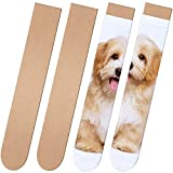 2 Pieces Sock Jig Straight Style Sock Jig Sublimation Crew Sock Jig Heat Press Dye Sublimation Jigs MDF Wood Athletic Sock Jig for Printing DIY Pattern Socks Accessory, 17.83 x 3.35 Inches