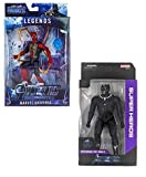 PACK OF (Spiderman and Black Panther) 6.5inch The Infenity War 4 Endgame Legends Super Heroes Toy sets latest big size Figure soft Toys For kids Children The Infenity War Universe Heroes 6.5 Inch Led Light Action Figure They Are A Perfect Gift For Ch...
