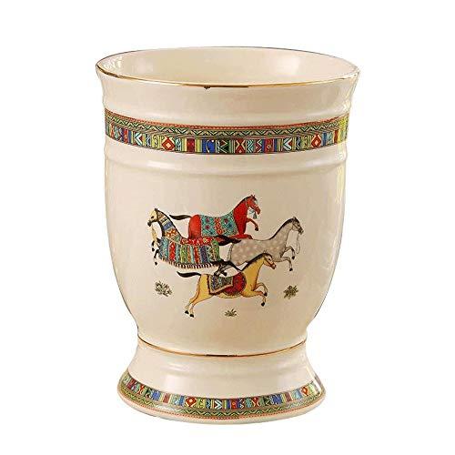 Cubo de Hielo para el Hogar/Bar Hielo European Ceramic Cubo Ktv Wineware Bar Champagne Material del Barril de Vino del Barril de Cerveza de Barril Grande Spit Cubo de Hielo (Tamaño: 19 x 24 cm)