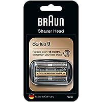 Braun Series 9 92B Cabezal de Recambio para Afeitadora Eléctrica, Compatible con las Afeitadoras Series 9, Negro