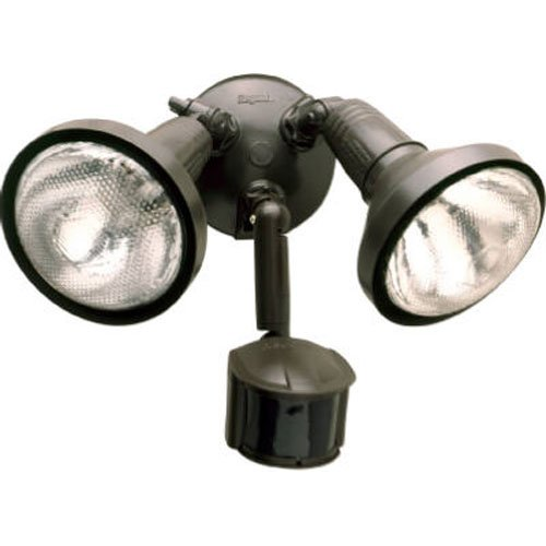EATON Lighting MS185R 180 Degree 300W PAR Motion Security Floodlight with Reflectors, Bronze