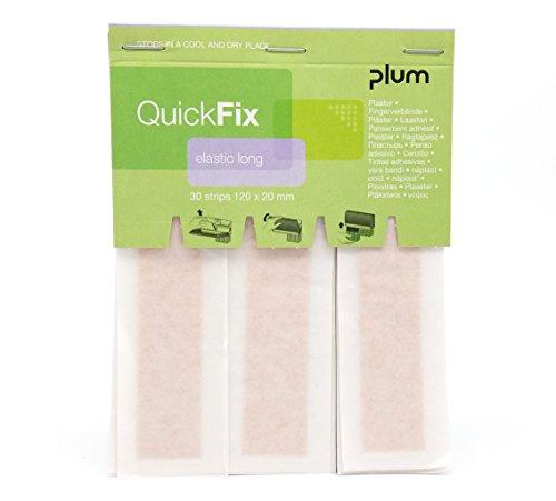 QuickFix Pflaster elastic/textil long Nachfüllpack (30 Pflasterstreifen 120 x 20 mm)