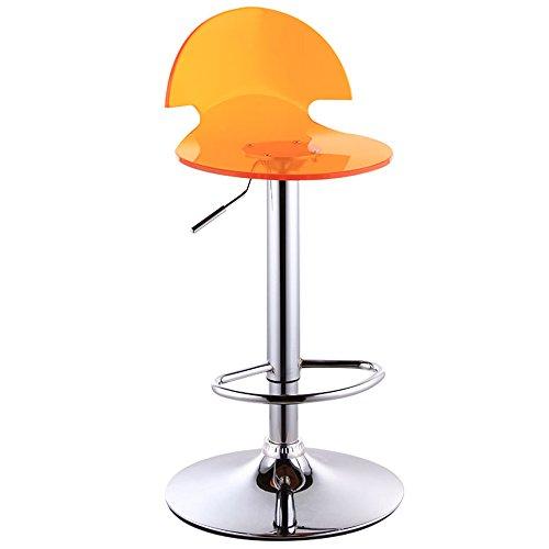 Chaises de bar de style européen, chaises de bar, tabouret de bar en acrylique, tabouret haut, caisse enregistreuse de réception (Couleur : Orange)