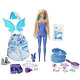 Barbie Color Reveal Peel Fairy Fashion Reveal Doll Set with 25 Surprises Including Blue Peel-able Doll & Pet & 16 Mystery Bags with Clothes & Accessories for 2 Fairy-Inspired Looks