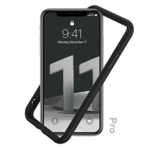 RhinoShield Bumper Case Compatible with [iPhone 11 Pro] | CrashGuard NX - Shock Absorbent Slim Design Protective Cover 3.5M / 11ft Drop Protection - Black