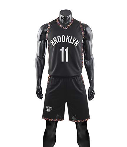 Wo nice Trajes De Baloncesto para Niños, Brooklyn Nets # 11 Kyrie Irving Jerseys De Baloncesto De La NBA Chalecos Informales Camisetas Tops Chalecos Deportivos + Pantalones Cortos Traje De Dos Piezas