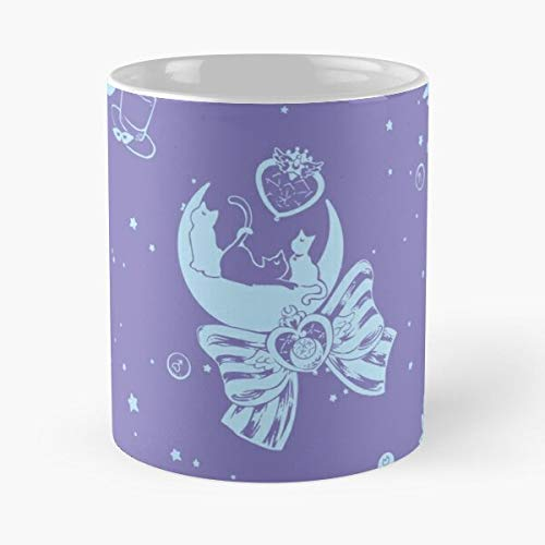 Moonlight Circus - Taza de café de cerámica, color blanco