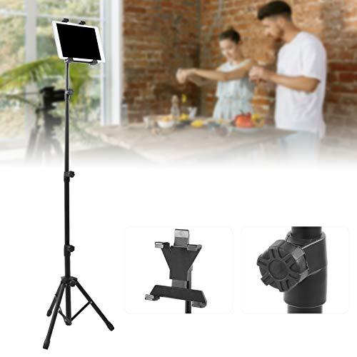 Xiolanniy Soporte para Tableta con trípode A-309, con Brazo Flexible Ajustable y botón de tamaño Ajustable del Soporte Superior para iPad/iPad2 Mini y Otras tabletas de 10.5cm-21cm
