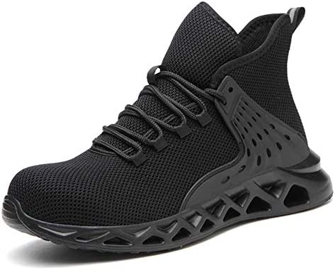 TRYBEST 2020 Breathable Men's Safety Shoes Steel Toe Safety Boots Male Work Sneakers Puncture-Proof Work Boots Men Shoes (Color : G7 Black, Shoe Size : 38)