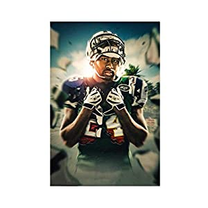Football Player Darrelle Revis New York Jets Cool Wall Decor Art Print Sport Poster (2) Canvas Poster Wall Art Decor Print Picture Paintings for Living Room Bedroom Decoration 24×36inch(60×90cm) Unfra