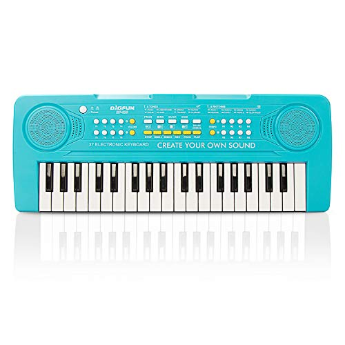 BIGFUN Kids Keyboard Piano, 37Keys Multifunction Music Educational Instrument Toy Keyboard Piano for Kids (Blue)