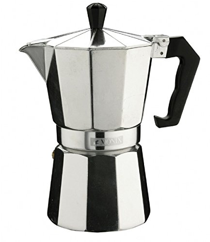 Pinti Inox Monix - Vitro express - Cafetera (Plata, Estufa, De café molido, Café expreso, Café expreso)