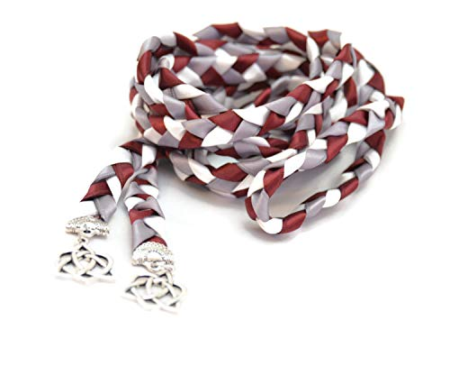 Divinity Braid Burgundy Charm Celtic Heart Knot Wedding Handfasting Cord #Handfasting #Celtic #CelticHandfasting #Wedding #WeddingHandfasting