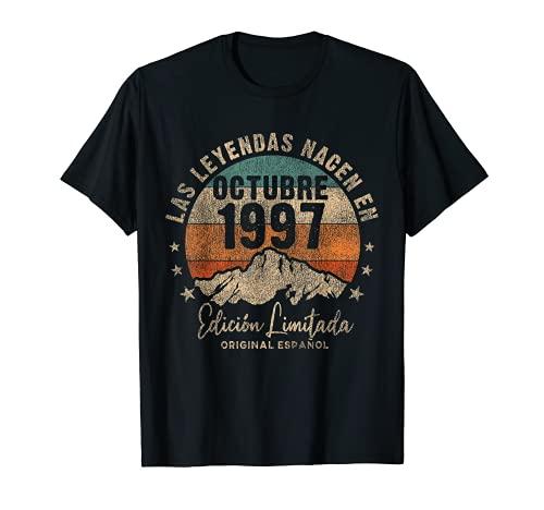 Las Leyendas nacen en Octubre de 1997 24 Años Cumpleaños Camiseta