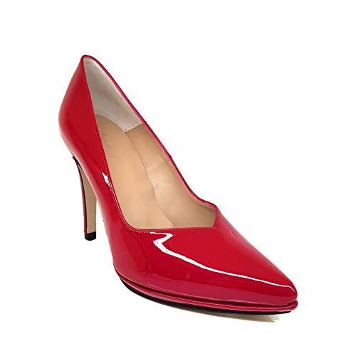 Mercury - Salones Zapatos Rojos de Piel para Mujer con Punta Fina...