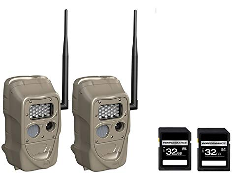 Cuddeback CuddeLink J Long Range IR J-1521 Trail Camera 2 PC Set with 2 SD 32 GB...