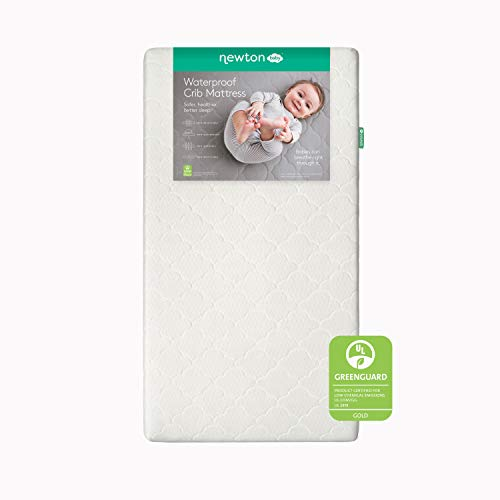 Newton Baby Crib Mattress and Toddler Bed - Waterproof - 100% Breathable Proven to Reduce Suffocation Risk, 100% Washable, Hypoallergenic, Better Than Organic, 2-Stage Removable Cover Included- White