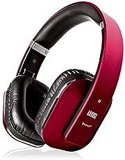 Bezprzewodowe słuchawki wokółuszne Bluetooth - August EP650 z aplikacją do spersonalizowanego sterowania dźwiękiem - Ciesz się bogatym basem i optymalnym komfortem - Bluetooth v4.2, NFC i aptX LL Low Latency - [czerwone]