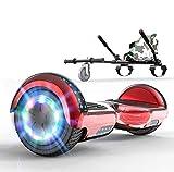 SOUTHERN WOLF Hoverboard Auto-équilibrant, Scooter Électrique avec Lumières LED, Scooter Auto-équilibrant 2x350W, Haut-Parleur Bluetooth Intégré, Go-Kart, Meilleur Cadeau pour Les Enfants