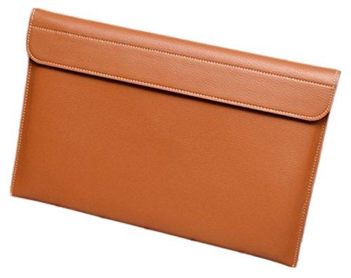 hakustory Leder Sleevs Schutz Tasche Tasche für LG Gramm 38,1cm Leder Tasche Braun
