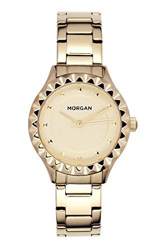 MORGAN Reloj Fecha Standard para Mujer de Cuarzo con Correa en Acero Inoxidable MG 001-1EM