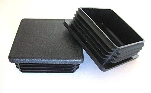 Prescott Plastics 2 1/2 Inch Square Plastic Plug, Heavy Duty Tubing Post End Cap (4)
