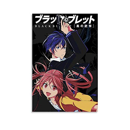 FACHAI Black Bullet Anime Poster Poster Decorative Painting Canvas Wall Art Living Room Posters Bedroom Painting 08x12inch(20x30cm)