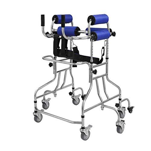 Práctico soporte para niños con 8 ruedas y asientos, equipo de entrenamiento para rehabilitación de hemiplejía con parálisis cerebral para niños, soporte para caminantes discapacitados debajo