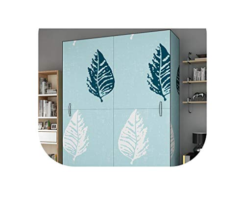 Miracle day Cloth Wardrobe All Steel Frame Canvas Steel Pipe Reinforced Thicken Double Clothes Storage Cabinet Household Simple Economy,Yellow