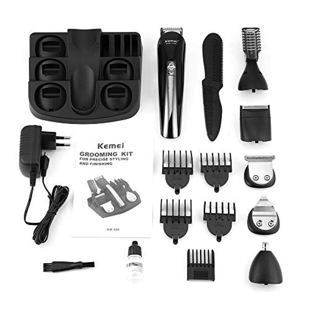 どれでもパイプ受益者KEMEI KM-600多機能バリカン電気かみそりかみそりヘアトリマー髭トリマーヘアカットシェービングマシン
