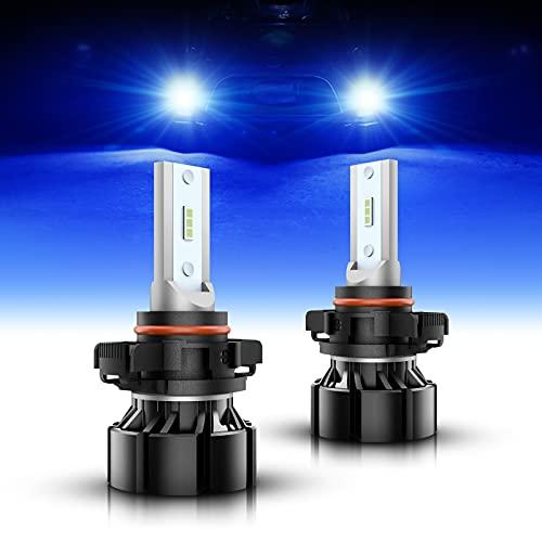 SEALIGHT 5202 LED Fog Light Bulbs Blue, 4000 Lumens 12W High Power, 5201 PSW19 PSW24 LED Fog Light DRL Bulbs Replacement For Cars, Trucks(Pack of 2)
