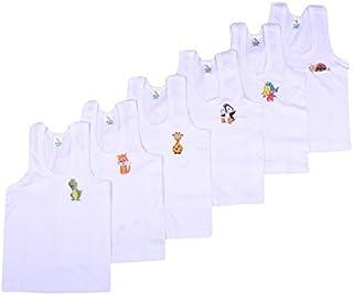 Kuchipoo Baby Boys Regular Fit Cotton Vest (Pack of 6)