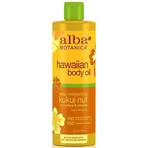 ALBA Botanica Kukui Nuss Bio Body Massage Oil, 8,5Unze –-6Pro Fall.