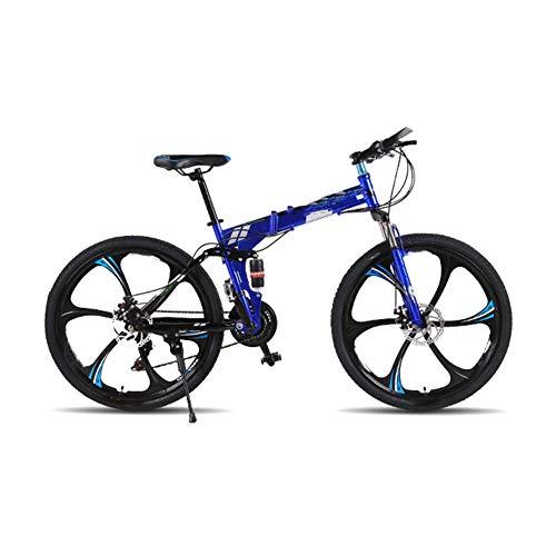 LCLLXB Bicicleta de montaña Speed Gears Bicicleta Plegable Outroad para Hombres y Mujeres Adultos Bicicleta para Adultos